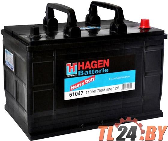 Аккумулятор Hagen 61047 110Ah 750A 345x175x240mm