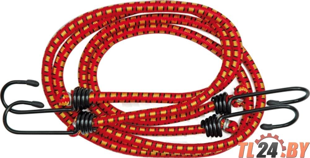 Стяжки груза резиновые   2 стяжки,  4 крюка,  эластичные,  длина - 100 см,  диаметр - 8 мм