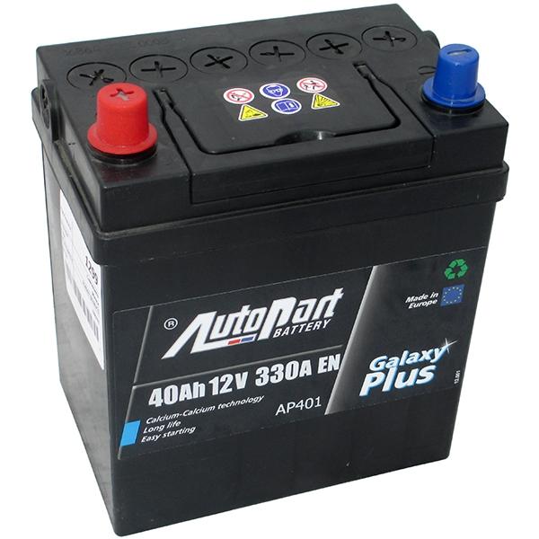 Аккумулятор AutoPart AP401 40Ah/330A (L+) 187x127x225 mm