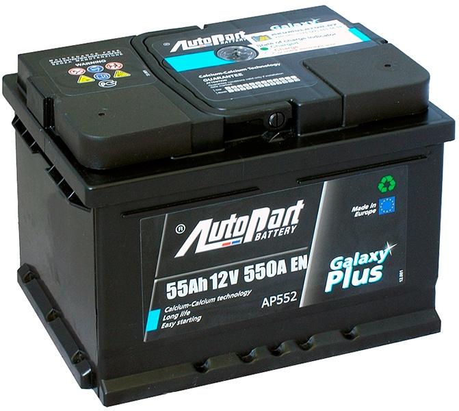 Аккумулятор AutoPart AP552 55Ah 550A (R+)  241x175x175 mm