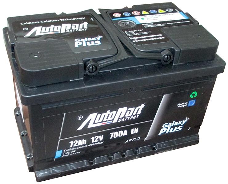 Аккумулятор AutoPart AP722 72Ah 680A (R+)  276x175x175 mm