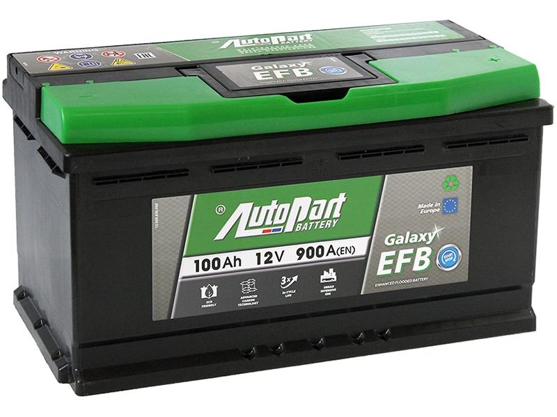 Аккумулятор AutoPart EFB1000 START-STOP 100Ah 900A (R+) 353x175x190 mm