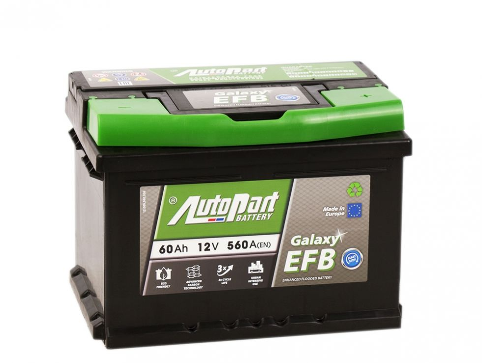 Аккумулятор AutoPart EFB600 START-STOP 60Ah 560A (R+) 242x175x175 mm