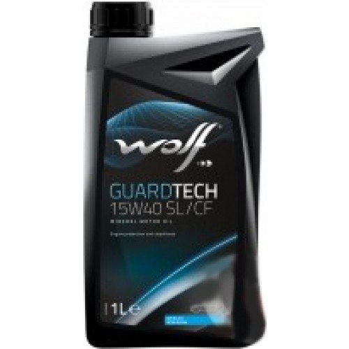 Моторное масло Wolf GuardTech 15W-40 SL/CF 1L
