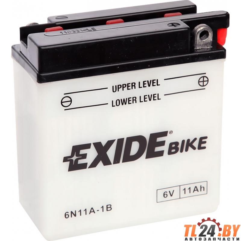 Аккумулятор для мототехники EXIDE BIKE 6V 11AH 80A (JIS) 122x62x131mm 0.8kg