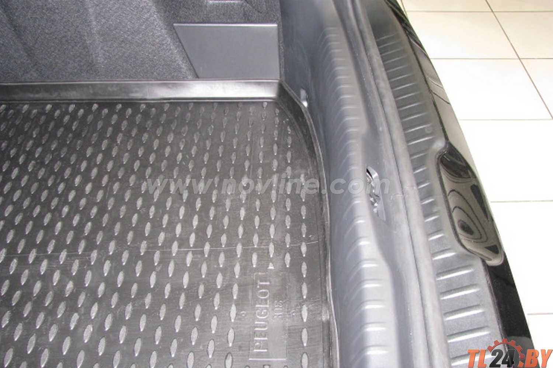 Коврик в багажник Novline NLC.38.11.B11 PEUGEOT 308 2008-2014,  хб. (полиуретан)