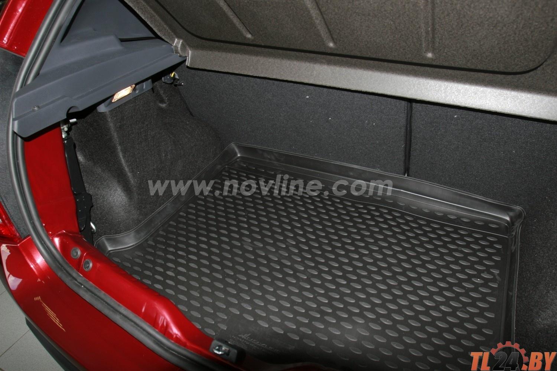 Коврик в багажник Novline NLC.41.18.B11 RENAULT Sandero 2010-> 2014,  хб. (полиуретан)