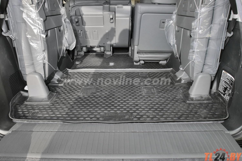 Коврик в багажник Novline NLC.48.17.B13 TOYOTA Land Cruiser 200 11/2007-2012,  2012->,  внед.,  7 мест. (полиуретан)