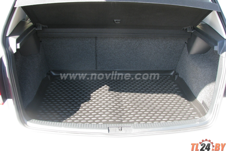 Коврик в багажник Novline NLC.51.26.B11g VW Golf VI 04/2009->,  хб. (полиуретан,  серый)