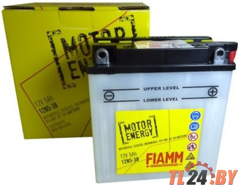 Аккумулятор Fiamm 12N5-3B (7904437) евро 12V 5Ah