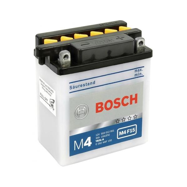 Аккумулятор для мототехники BOSCH M4F 3Ah 30A 503012001 (YB3L-A) 100x58x112mm