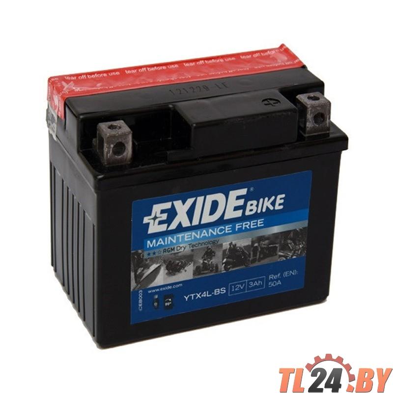 Аккумулятор для мототехники EXIDE AGM 12 V 3 AH 50 A ETN 0 B0 115x70x85mm 1.5kg