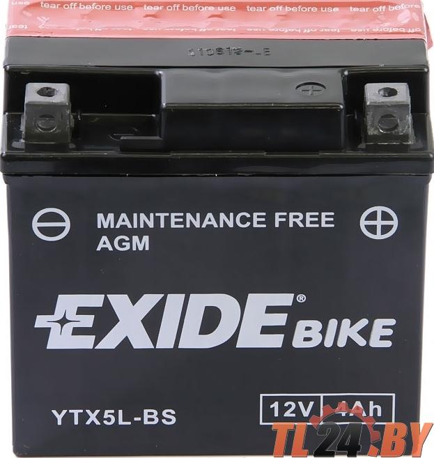 Аккумулятор для мототехники EXIDE AGM 12 V 4 AH 70 A ETN 0 B0 115x70x105mm 1.9kg