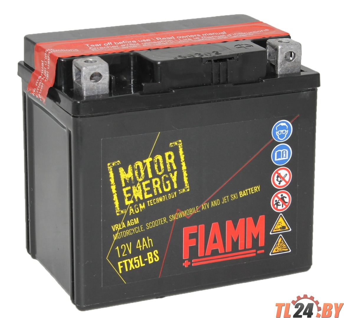Аккумулятор Fiamm FTX5L-BS (7904476) евро 4Ah 113/70/105mm