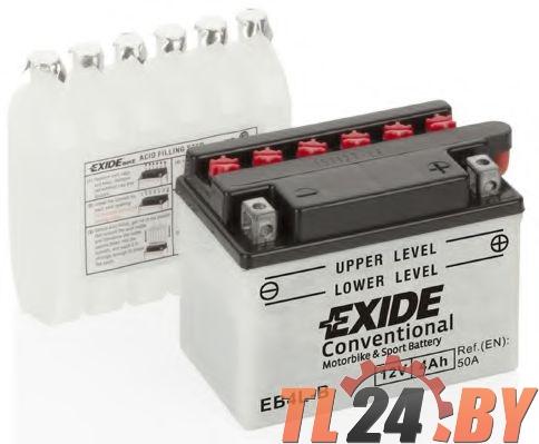 Аккумулятор для мототехники EXIDE CONVENTIONAL 12 V 4 AH 60 A ETN 0 B0 120x70x95mm 1.6kg