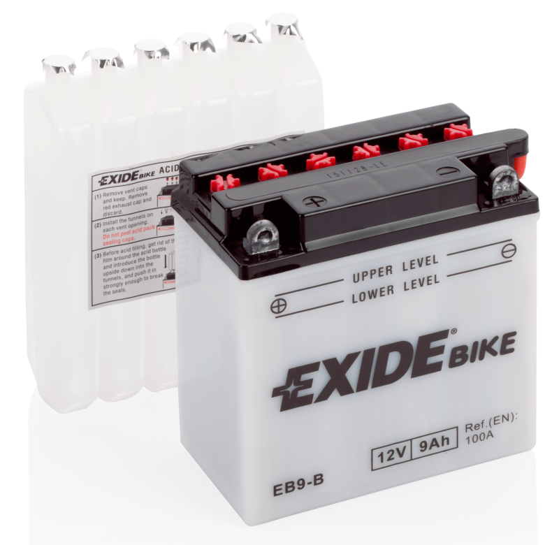 Аккумулятор для мототехники EXIDE CONVENTIONAL 12 V 9 AH 100 A ETN 1 B0 135x75x140mm 3.2kg