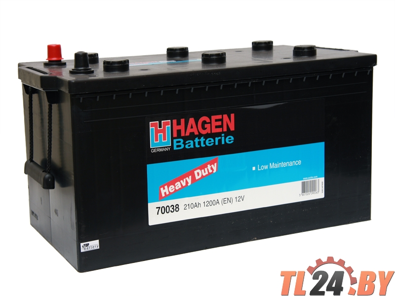 Аккумулятор Hagen 70038 210Ah 1200A 518x279x240mm