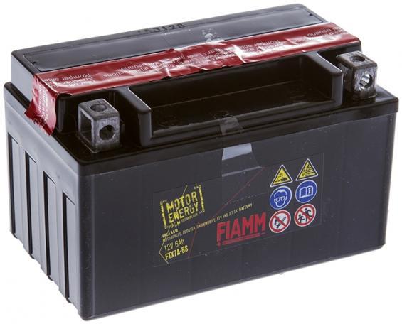 Аккумулятор для мототехники FIAMM 6,5Ah (FTX7A-BS) moto gel. (150x87x93mm)