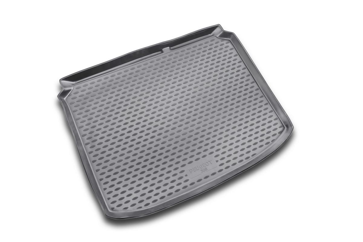 Коврик в багажник PEUGEOT 308 2007-2014, хб. (полиуретан, серый) Артикул: NLC. 38. 11. B11g