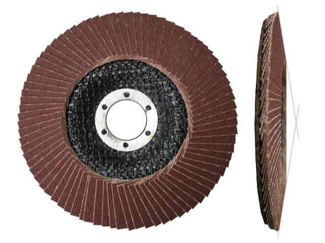 Круг лепестковый 125х22мм А60 конич. КЛТ2 (Луга) (LUGAABRASIV)